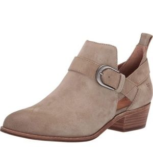 Frye Taupe Mia Cutout Booties Size 6.5M